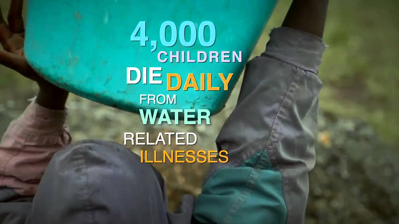 kids die every day from water borne illnesses